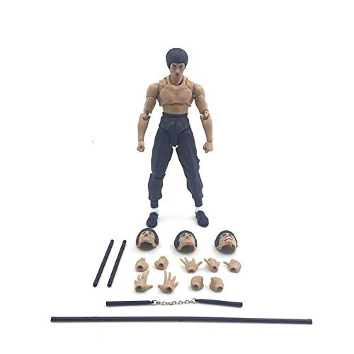 Action Figure SHF Bruce Lee Doll Toy Movable Face Model Doll, Animated Character Model Statue Decoration - Children's Gifts -15cm A