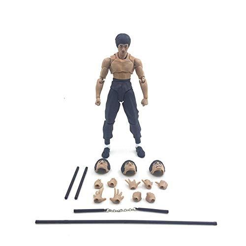 15 cm Action Figure SHF Bruce Lee Puppe Spielzeug Bewegliche Gesicht Modell Puppe Zeichentrickfigur Modell Statue Dekoration Kinder Geschenke A