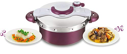 Tefal P4605131 ClipsoMinute Duo Schnellkochtopf, 5 l