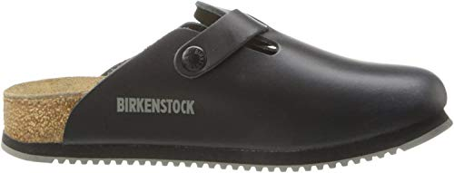 Birkenstock Unisex Professional Boston Super Grip Leather Slip Resistant Work Shoe,Black,43 M EU