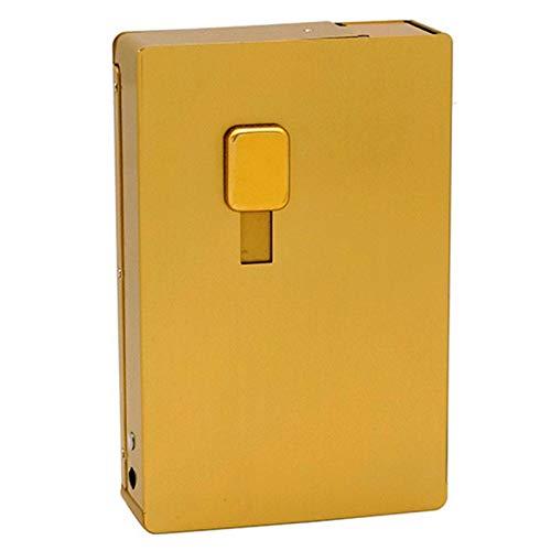 WMWM Estuche para Cigarrillos Estuches para Cigarrillos de Aluminio Caja de Cigarrillos Brillante con Empuje Recto Impermeable A Prueba de Humedad Resistente a la presión Portátil 12 Cigarrillos