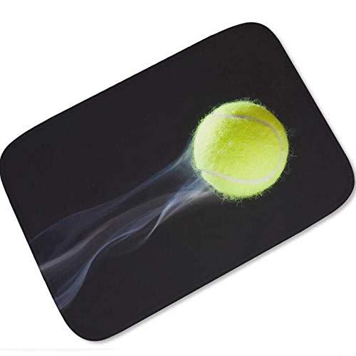 Stylish Tennis Ball Print Welcome Door Mat Cool Tennis Ball Sport Rubber Doormat Rug Carpet Home Decor Gift For Player Spectator,Flying Tennis Ball,50Cmx80Cm