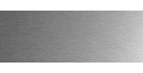 Lot 2 protections de porte inox 920 x 200 mm à coller. Plinthe protection bas de porte