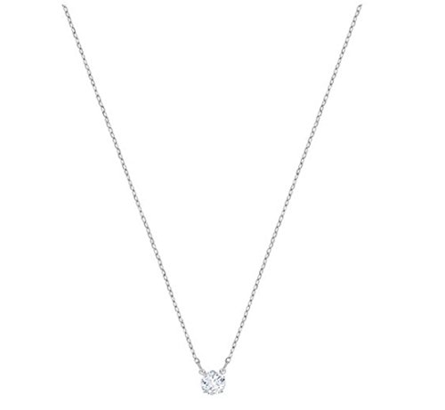 SWAROVSKI Crystal Attract Round Clear Rhodium Plated Necklace