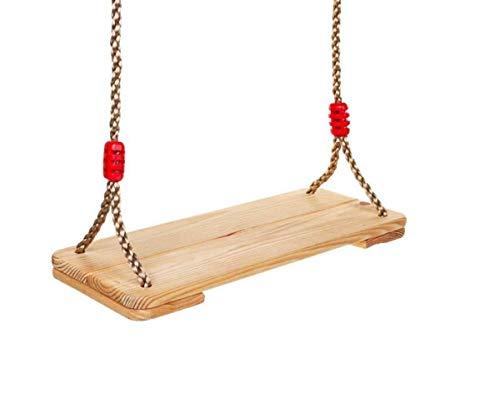 HYISHION Waterproof Wood Swing Kids Children Tree Swing Seat Adult Backyard Outdoor Replacement Rope Wooden Swing Set SKYJIE