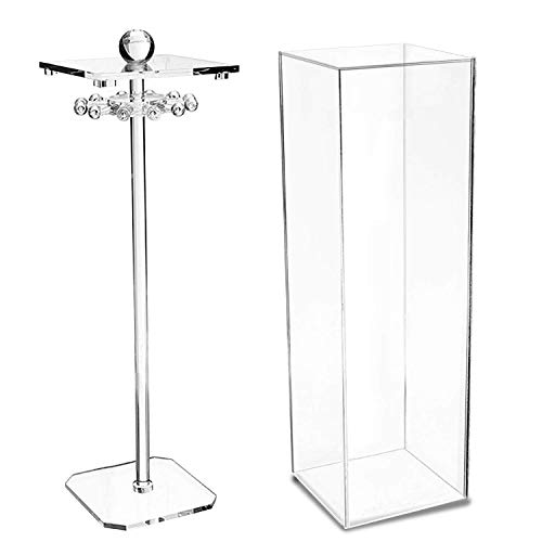 Discoball Acrylic Necklace Holder Stand Clear Case Dustproof Display Box