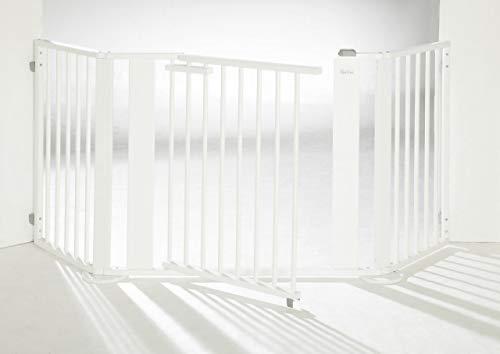 Geuther, Set 2, Barrière de Sécurité à Configurer, pare-feu, largeur totale de 100 à 180 cm, hauteur de 77 cm