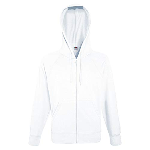 Fruit of the Loom: Lightweight Hooded Sweat Jacket 62-144-0, Größe:L;Farbe:White