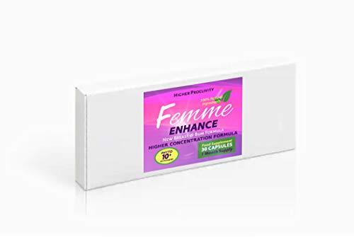 Femme Enhance - Pillen für die Brustvergrößerung, für Frauen und für Männer, 1 Packung = 1 Monat Pillen. 30 Kapseln.