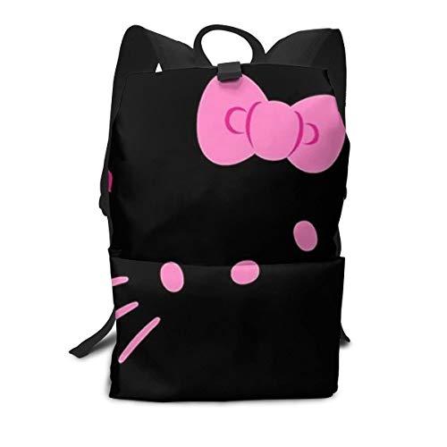 CHLING Leichter Erwachsenen-Rucksack Aktentasche Laptop Schultertasche Hello Kitty Face Classic Basic Daypack Tasche