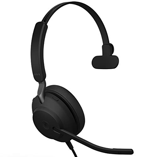 %15 OFF! Jabra Evolve2 40 MS Wired Headphones, USB-A, Mono, Black – Telework Headset for Calls and...