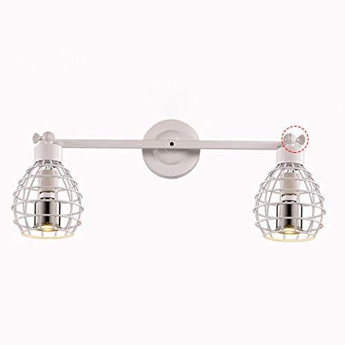Vintage Blanc Angle Réglable Lampe Applique Lampe De Chevet Rétro Industriel Luminaire Applique E27 Loft Creative Escalier Chambre Intérieur Métal Fer Ajouré Design Lumière Mur Projecteur