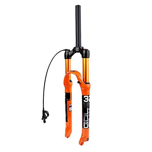 BESTSL Horquillas de Suspensión para Bicicleta de Montaña, Horquilla Delantera para Bicicleta MTB, Horquilla de Suspensión MTB de 26 27.5 29 , con Ajuste de Rebote,27.5 -Straight-Remote