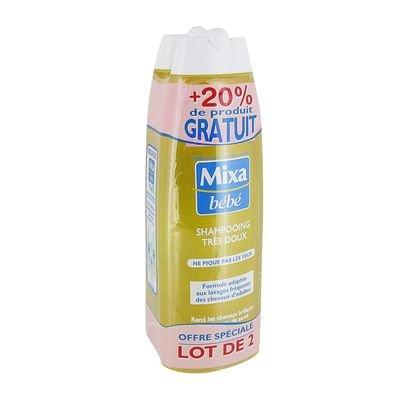 Mixa Shampoo, sehr weich, 2 x 300 ml, 20 % Produkt gratis