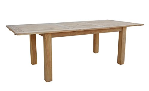 GRASEKAMP Qualität seit 1972 Teak Tisch 120/180x90 cm ausziehbar Esstisch Gartenmöbel Gartentisch Holztisch