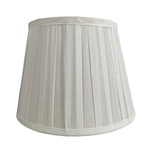 Wogati Premium Lampenschirm 25 cm(U) x 16,5 cm(O) x 18 cm(H) / Weiß / gefaltet / Plissee / Stoff / E14 / E27 / inkl. Adapter