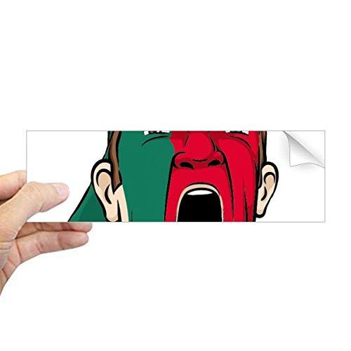 DIYthinker Portugal Vlag Gezichtsmasker Screaming Cap Rechthoek Bumper Sticker Notebook Window Decal