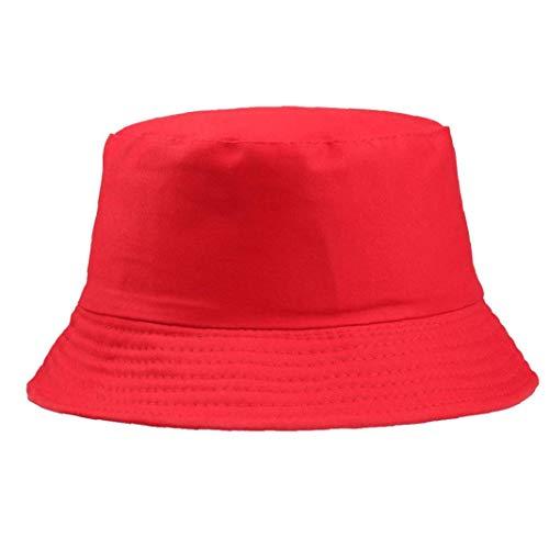 Sombrero Cuenca del Color Sólido De Algodón Unisex del Pescador Casquillo Aire Libre Informal Hombres Mujeres Gorra Plana
