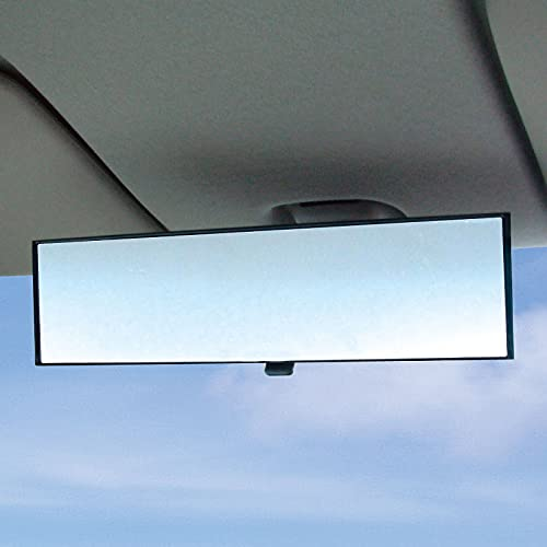 "LITTLEMOLE Rear View Mirror, Wide Angle Flat Ultra-High Reflection Car Rearview Mirror, Universal Interior Clip On Original Mirror(11"" L x 3"" H)"