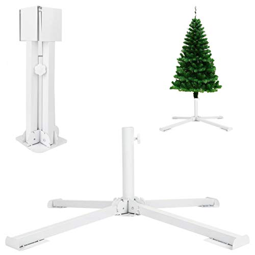 GKanMore Artificial Christmas Tree Base Stand 4-Tripods Foldable Metal Base Stand Holder...