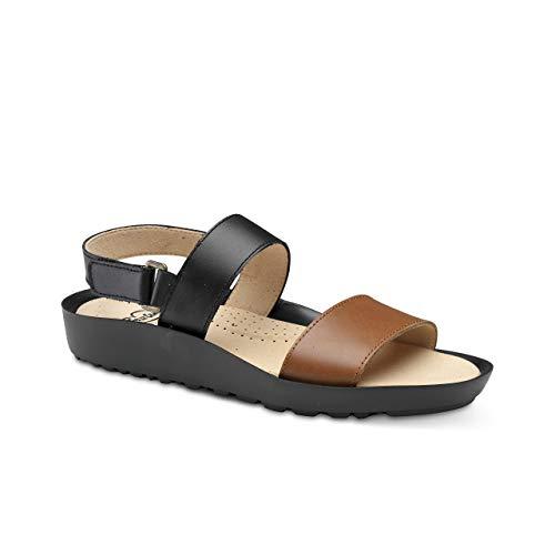 Feliz Caminar - Sandalia Piel Antideslizantes y Cómodas para Hombre y Mujer   Frescas para Vestir en Epocas de Calor Verano Primavera   Modelo Sana 18000