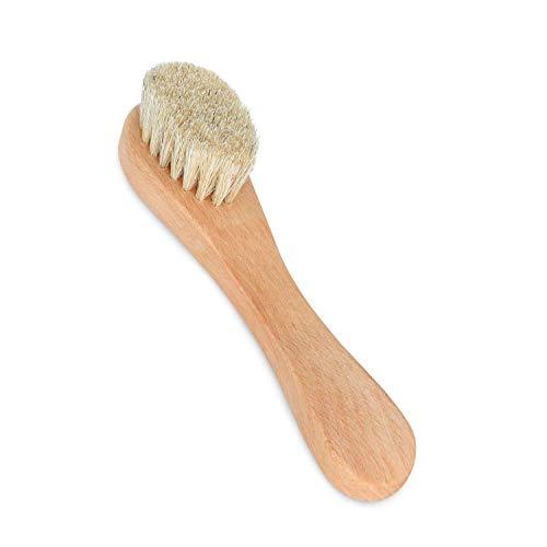 Gesichtsbürste – Massage fürs Gesicht, auch als Trockenbürste geeignet. Gesichtsbürste aus Holz und mit Naturborsten.