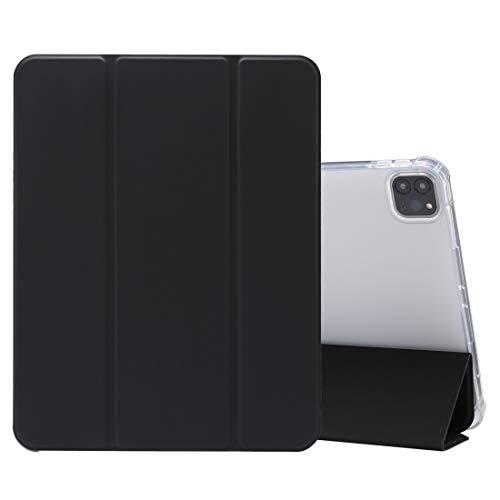 Funda Protectora para iPad para iPad Pro 11 Pulgadas (2020) 3 Plegables de Textura de Piel prensada eléctrica. Funda de Cuero Transparente TPU + PU con Soporte y Pluma Wenhengshangmaoyuxiangongsi