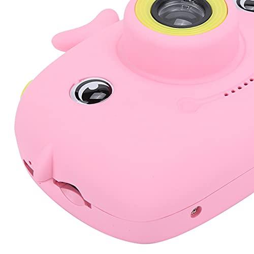 ROMACK Cámara automática para niños con diseño de Botones para cámara Digital, para fotografía, para Exteriores(Cute Pink, Pisa Leaning Tower Type)