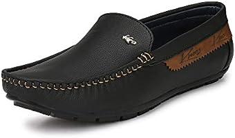 KNOOS Mens Comfort Casual Loafers-BOB1012-BL-10 Black