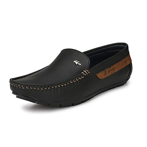 KNOOS Men's Comfort Casual Loafers (Black, Numeric_5)