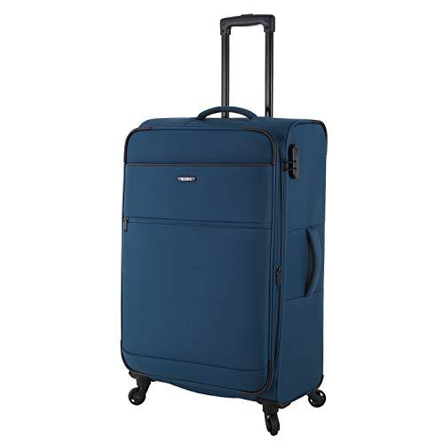 Rada Koffer Gepäck Cloud 4W Reise Trolley sehr leicht mit 4 Rollen Reisekoffer mit Zahlenschloss Verschiedene Größen, Set (Petrol blau, XL - großer Koffer mit 77cm)