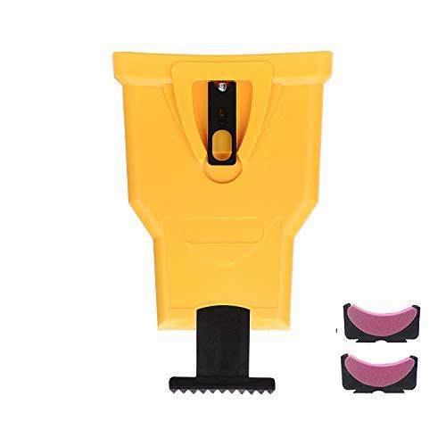 AGDLLYD Afilador para motosierra, afilado rápido para elaboración de madera, fijación en barra, herramienta para afilar la cadena para motosierra universal para 16 – 20 pulgadas, 3 x piedras
