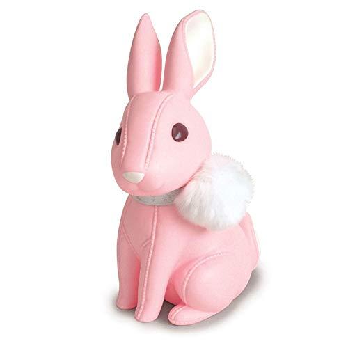 Monedas Conejito del Banco del Dinero de la Caja de Almacenamiento de los niños Juega el Regalo de cumpleaños Decoración de Ahorro de Dinero Cajas de plástico de los niños Hucha ( Color : Pink )