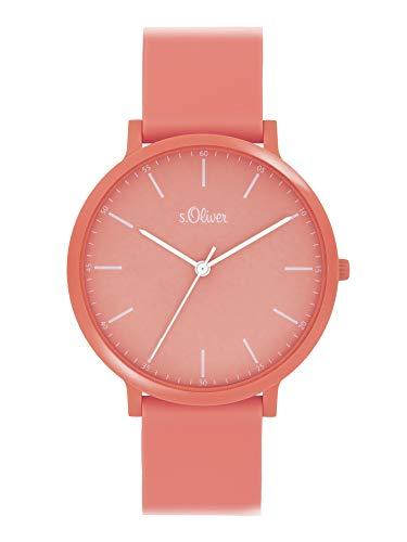 s.Oliver Unisex Analog Quarz Uhr mit Silicone Armband SO-4066-PQ
