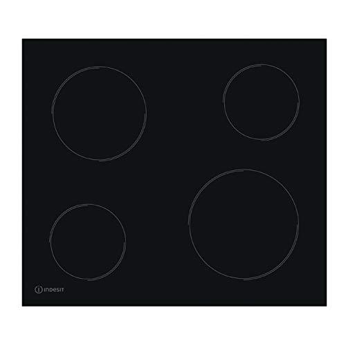 INDESIT RI 1060 C Glaskeramikfeld/Elektro/Glaskeramik Kochfeld / 58 cm/Schwarz/Randlos / 6,2 kW