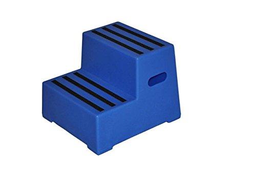 """Aufstiegshilfe """"Exklusiv"""" mit 2 Stufen. Blau"""