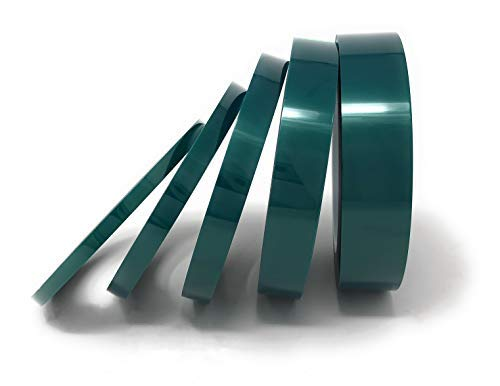 APT, (Multi-Sizes in One Pack) 2 Mil Polyester Tape with Silicone Adhesive, PET Tape, high Temperature Tape, 3.5 mil Thickness, Powder Coating, E-Coating. (1/4'',3/8'',1/2'',3/4'',1'')