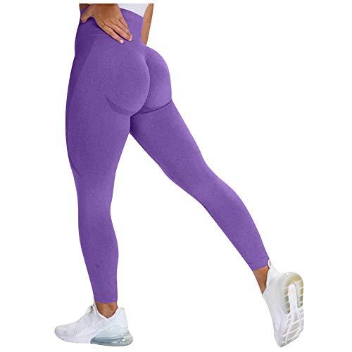 XIAOMEIO Leggings de entrenamiento sin costuras para mujer, cintura alta, pantalones de yoga con bolsillos, mallas de compresión para mujer, pantalones cortos