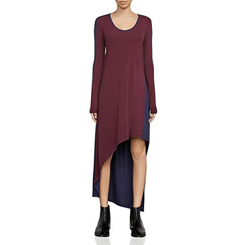 BCBG Max Azria Womens Miney Colorblock Asymmetric Casual Dress Purple XXS