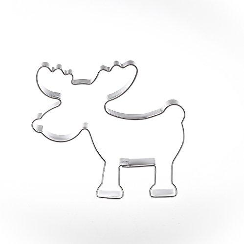 Formina Elch 6,3 cm Edelstahl Ausstecher Ausstechform Keksausstecher Elch Rentier