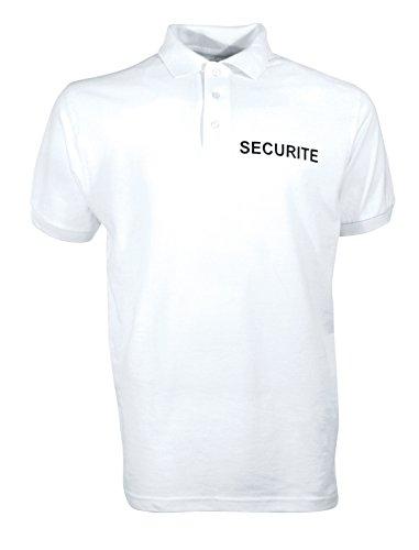Polo coton Sécurité blanc - CityGuard - Blanc - 4XL