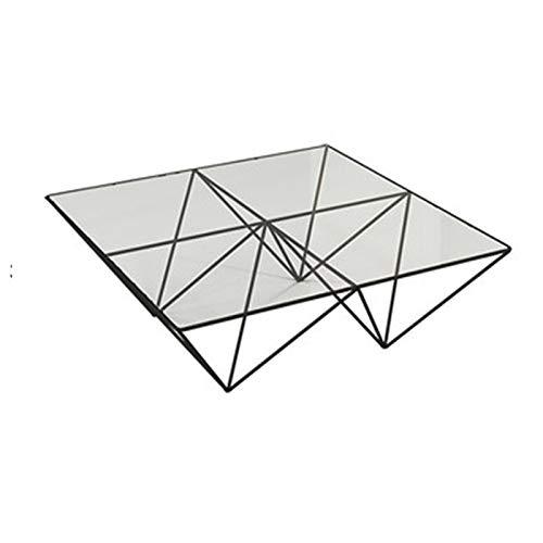 Mesa Centro Moderna De CristalMesa De Centro Lateral De Diseño Rectangular Moderno con Extremo Superior De Vidrio Templado Muebles De Sala De Estar Blancos Brillantes