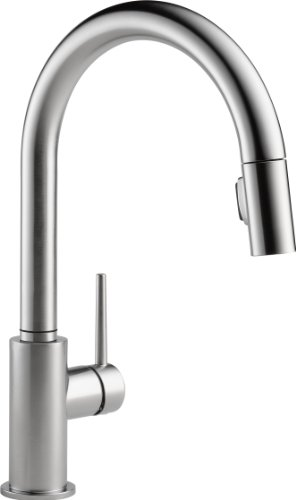 Delta Faucet Trinsic Single-Handle Kitchen Sink Faucet with Pull Down Sprayer and Magnetic Docking...