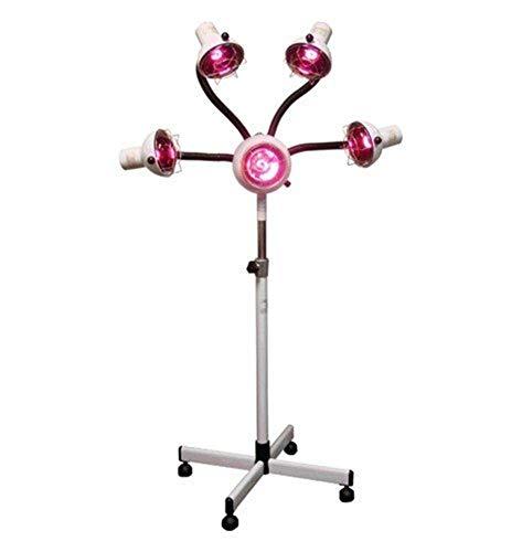 5 Cabeza Lámpara de Calor Infrarrojo Secador de Cabello Luz Ligera Estilismo Procesador de Color Brazos Flexibles con Cuatro Ruedas Bombillas 750 W