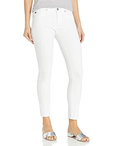 AG Adriano Goldschmied Women's Legging Ankle Super Skinny Jean, White, 31