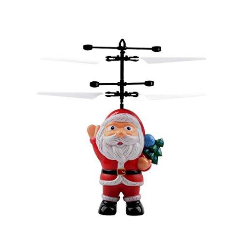 Xiuinserty Santa Juguetes para niños, Drones Navidad Santa Claus, juguetes voladores a mano eléctrico infrarrojo