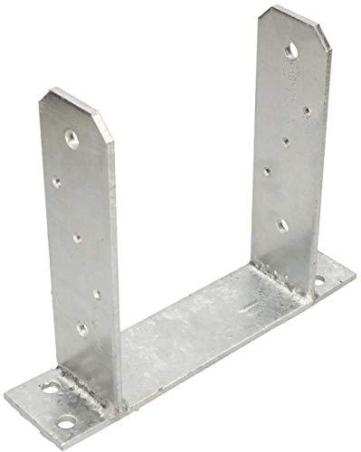 KOTARBAU® U-Pfostenträger 160 mm U-Form zum Aufdübeln Vierkantholzpfosten Bodenplatte Pfostenträger Anker Feuerverzinkt