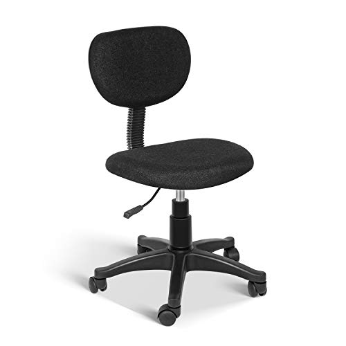YSSOA Task Office Chair Ergonomic Mesh Computer Chair with Wheels Adjustable Height Study Chair for Students Teens Men Women for Dorm Home Office,Black