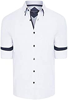 Tarocash Men's Rocky Slim Textured Shirt Slim Fit Long Sleeve Sizes XS-5XL for Going Out Smart Occasionwear