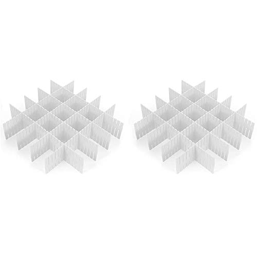 CROING - 16 pcs Blanco -Organizador de Cajones, Cajones Separadores